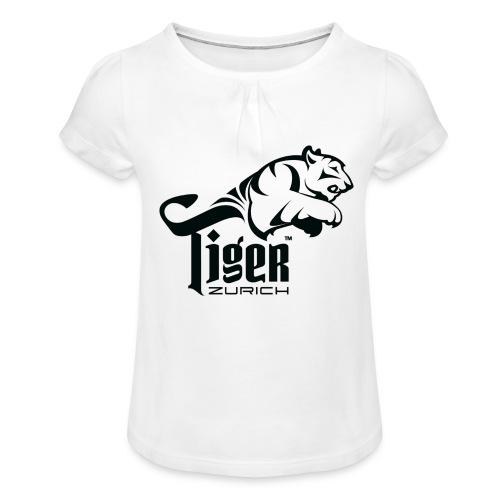 TIGER ZURICH digitaltransfer - Mädchen-T-Shirt mit Raffungen