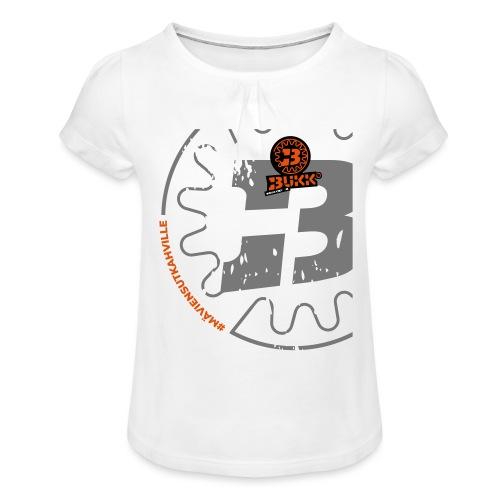 BUKK SPSHIRT maviensutkahville orange - Tyttöjen t-paita, jossa rypytyksiä
