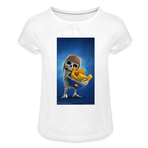 TheClashGamer t-shirt - Mädchen-T-Shirt mit Raffungen