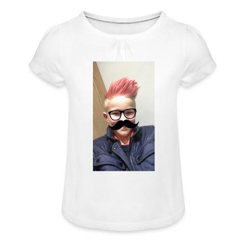 Mustach - T-shirt med rynkning flicka