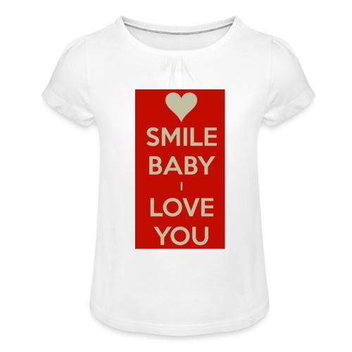 13EA371C 7A76 4027 BF26 429EE3809D0D - T-shirt med rynkning flicka