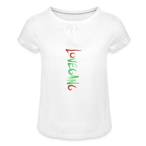 Lovegang - Tyttöjen t-paita, jossa rypytyksiä