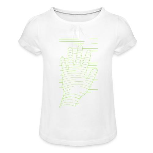 EigenHand gruen - Mädchen-T-Shirt mit Raffungen