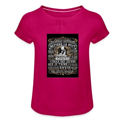 Johnny hallyday diamant peinture Superstar chanteu - T-shirt à fronces au col Fille