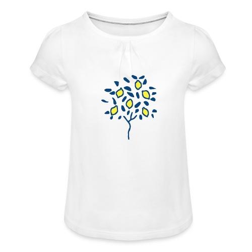 Citron - T-shirt à fronces au col Fille