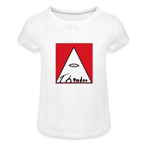theodoo 1 - T-shirt med rynkning flicka