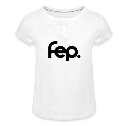 FEP. Logo t-shirt - Girl's T-Shirt with Ruffles