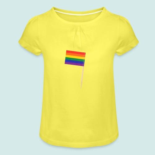 LGBT+ - Mädchen-T-Shirt mit Raffungen