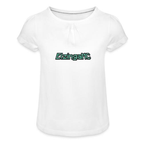 ElzingaMC - Meisjes-T-shirt met plooien