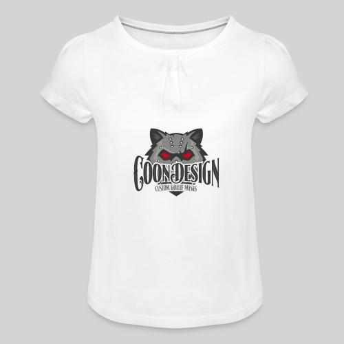 CoonDesign - Mädchen-T-Shirt mit Raffungen