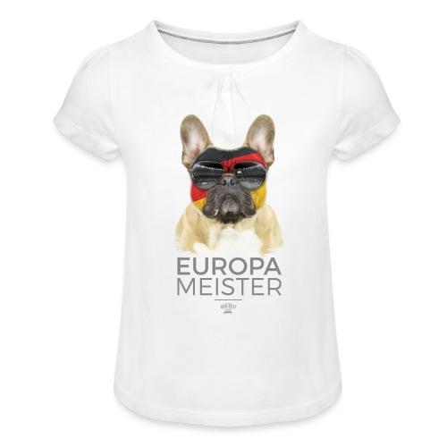 Europameister Deutschland - Mädchen-T-Shirt mit Raffungen