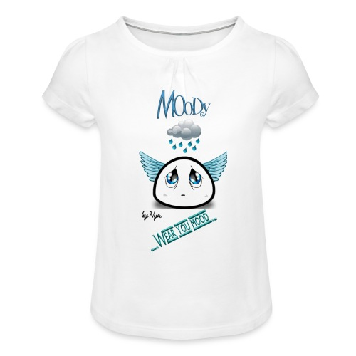 MOODY ANGEL - Maglietta da ragazza con arricciatura