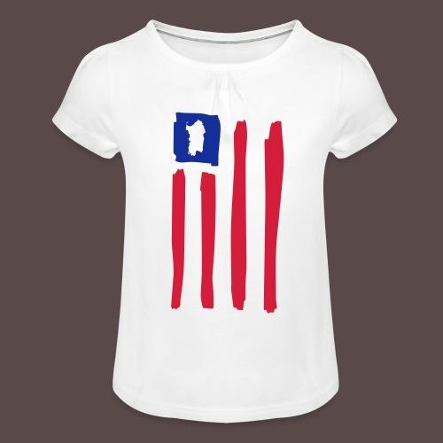United States of Sardegna - verticale - Maglietta da ragazza con arricciatura
