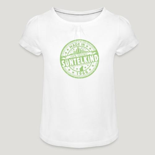 SÜNTELKIND 1966 - Das Süntel Shirt mit Süntelturm - Mädchen-T-Shirt mit Raffungen