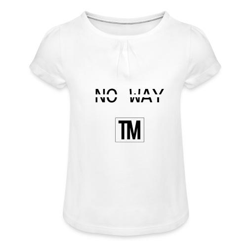 NO WAY - Girl's T-Shirt with Ruffles