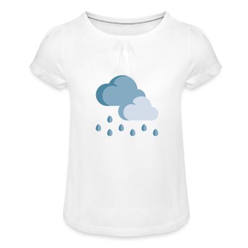 lluvia - Camiseta para niña con drapeado