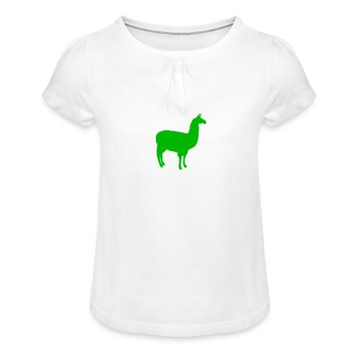 Lama - Meisjes-T-shirt met plooien