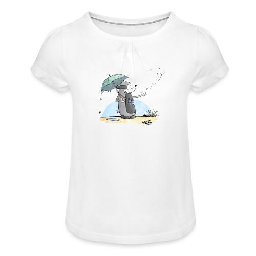 Snowflake - Jente-T-skjorte med frynser