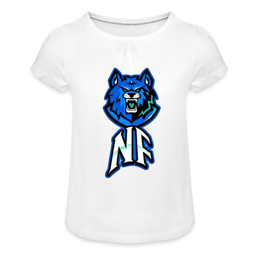 Noah Fortes logo - Meisjes-T-shirt met plooien