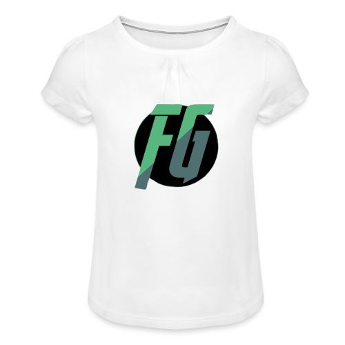 FGminy - Meisjes-T-shirt met plooien