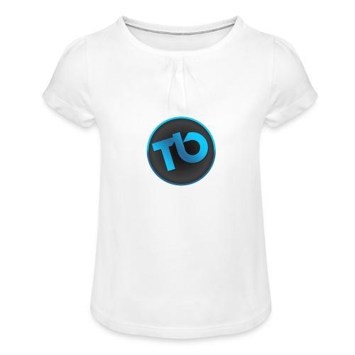 TB T-shirt - Meisjes-T-shirt met plooien