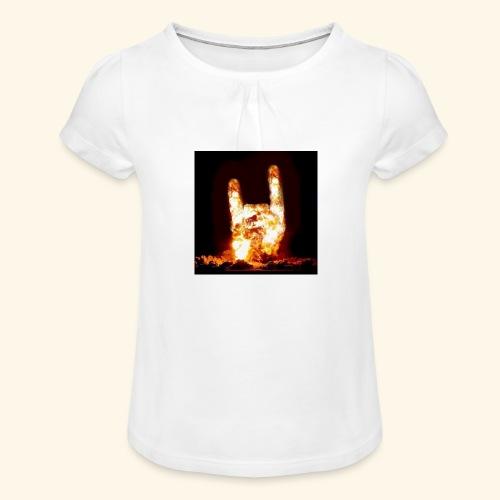 fingers bomb - T-shirt à fronces au col Fille