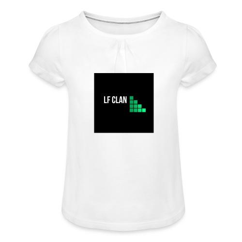 LF CLAN - T-shirt med rynkning flicka