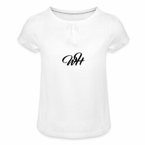 Basic logo - Pige T-shirt med flæser