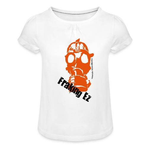 Anti - fraking - Camiseta para niña con drapeado