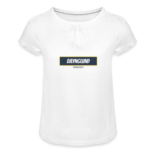 DJLynglund - Jente-T-skjorte med frynser