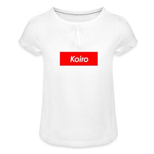 Koiro - Punainen - Tyttöjen t-paita, jossa rypytyksiä