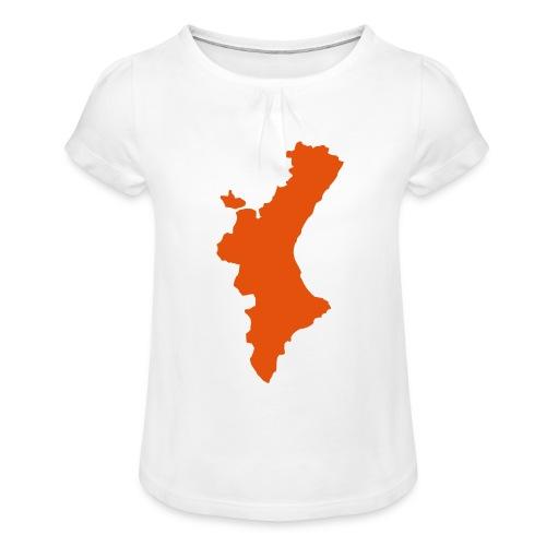 València - Camiseta para niña con drapeado