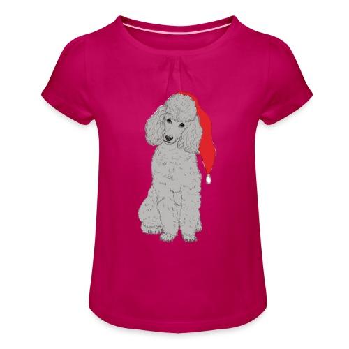 Poodle toy G - christmas - Pige T-shirt med flæser