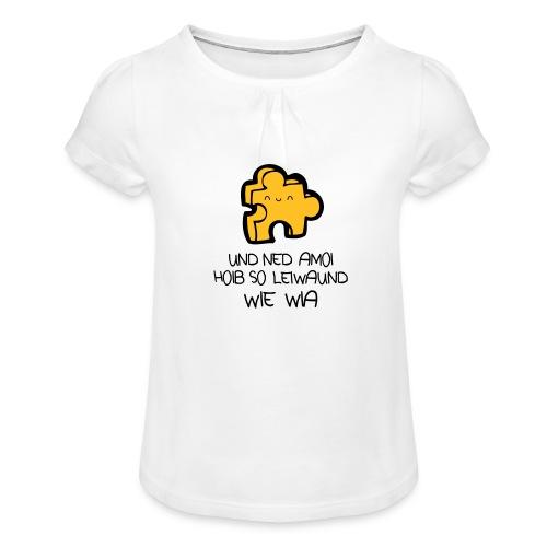 Vorschau: beste freind - Mädchen-T-Shirt mit Raffungen