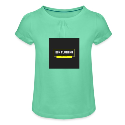 Don kläder - T-shirt med rynkning flicka