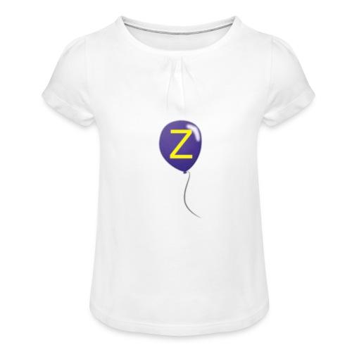 Z-Ballong - T-shirt med rynkning flicka