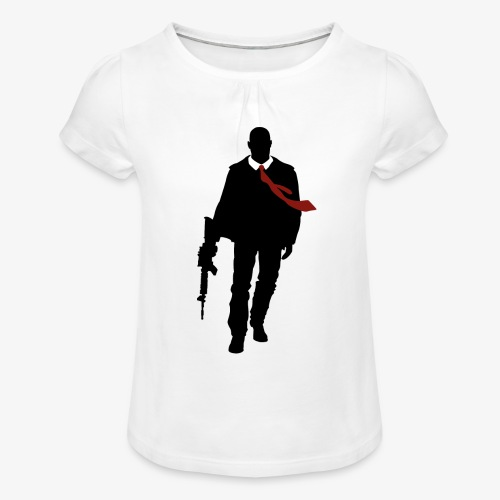 PREMIUM SO GEEEK HERO - MINIMALIST DESIGN - T-shirt à fronces au col Fille