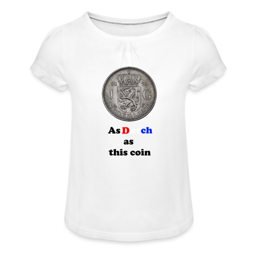 Hollandse Gulden - Meisjes-T-shirt met plooien