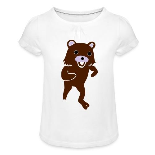 new Idea 15142400 - Koszulka dziewczęca z marszczeniami