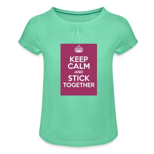 Keep calm! - Girl's T-Shirt with Ruffles