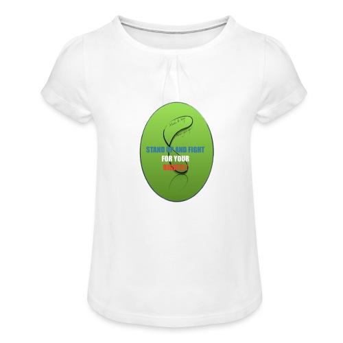 unnamed_opt-png - T-shirt à fronces au col Fille