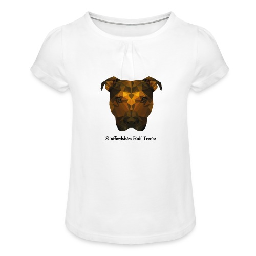 Staffordshire Bull Terrier - Girl's T-Shirt with Ruffles