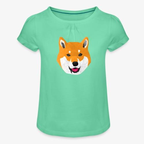 Shiba Dog - T-shirt à fronces au col Fille