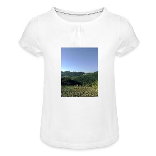 Panorama - Maglietta da ragazza con arricciatura