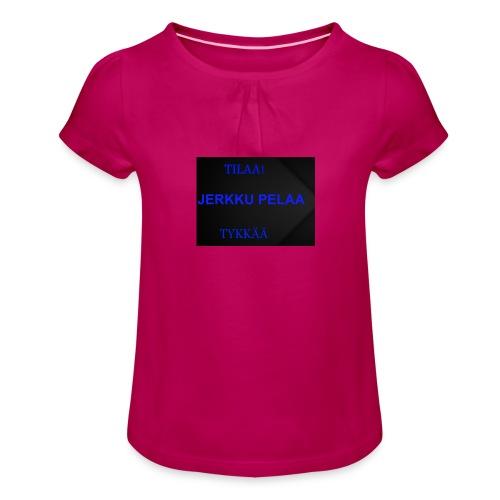 jerkku - Tyttöjen t-paita, jossa rypytyksiä