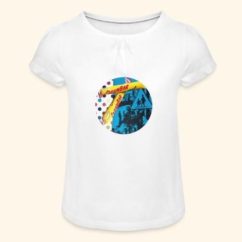 Carambar - T-shirt à fronces au col Fille