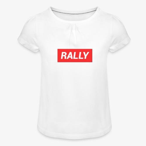 Rally classic red - T-shirt med rynkning flicka