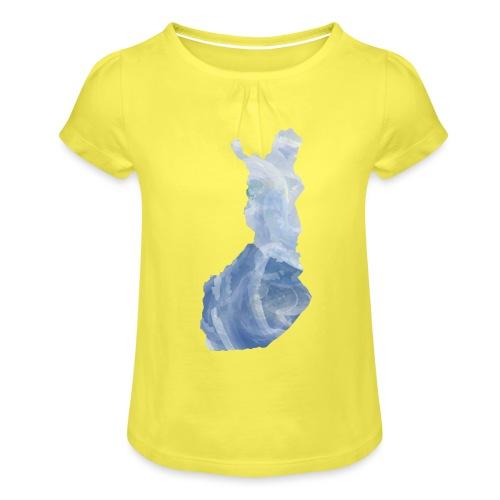 Suomi Finland - Tyttöjen t-paita, jossa rypytyksiä