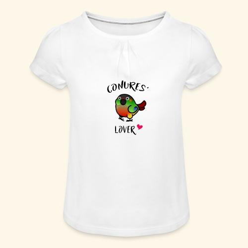 Conures' Lover: opaline - T-shirt à fronces au col Fille