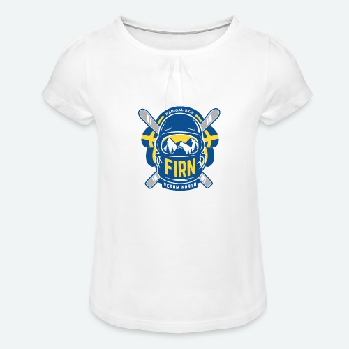 FIRN - T-shirt med rynkning flicka